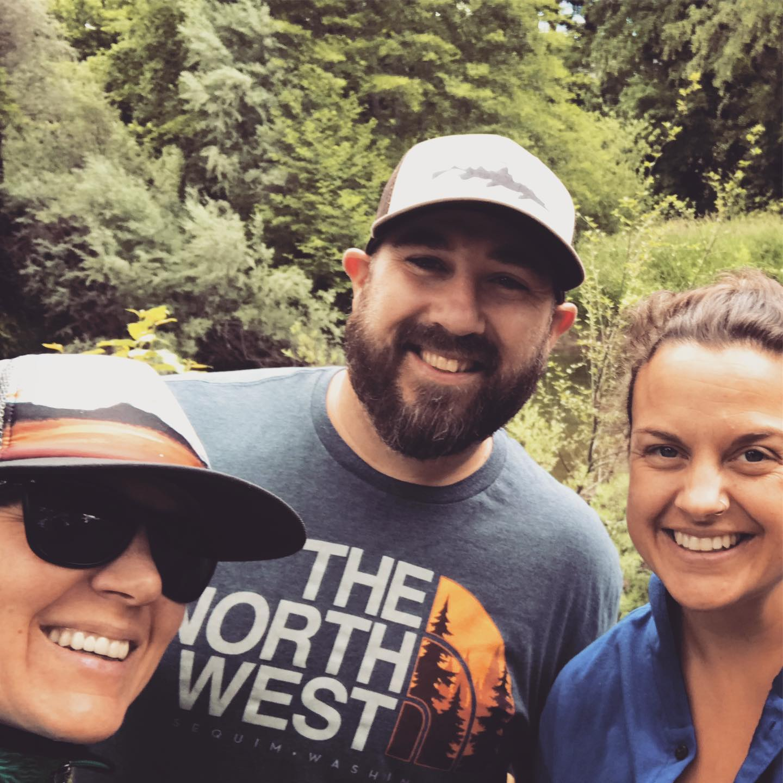 Robyn Janssen, Riverkeeper. Jesse Staten, 2019 WQ Intern. Sara Mosser, RRK Outreach Coordinator.