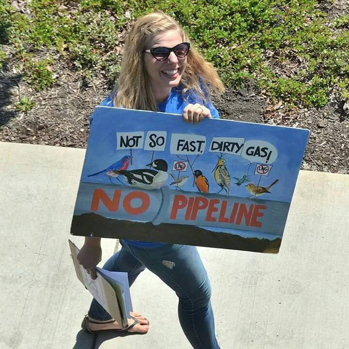 Sarah at a No LNG Rally in Medford, 2015.