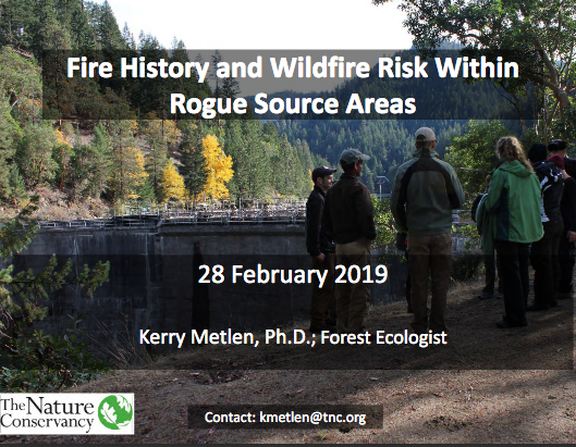 Fire History and Wildfire Risk within Rogue Source Areas