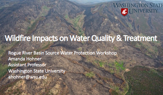 Wildfire Impacts on Water Quality and Treatment