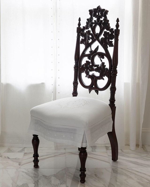 Can't find the perfect furniture piece for your room?  How about recovering an antique!  One of my favorite tricks to finding just the right look.  #customupholstery #upholsteredchair #upholstry #antiquechairs #customfurniture