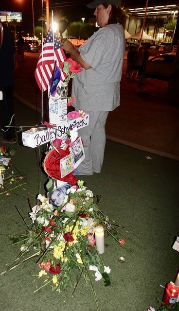 THE CROSS OF BAILEY SCHWEITZER, THE YOUNGEST VICTIM. PHOTO: NORM CLARKE.