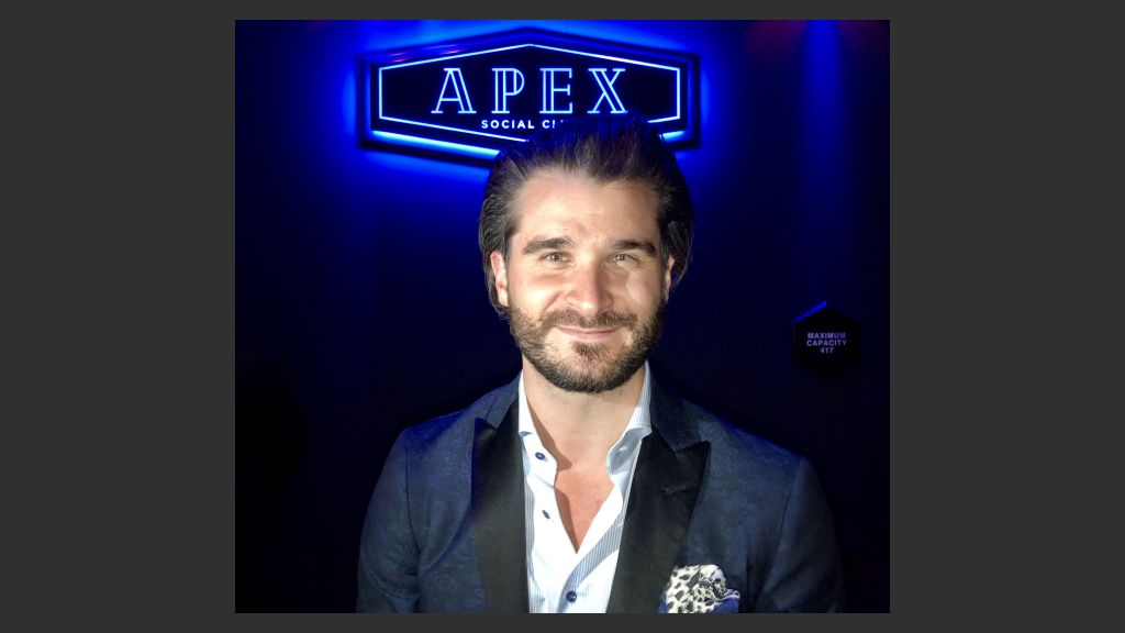 Jon Gray, Vice President and general manager of the Palms Hotel Casino, in Apex Social Club, formerly Ghost Bar, on Thursday.  Photo: Norm Clarke
