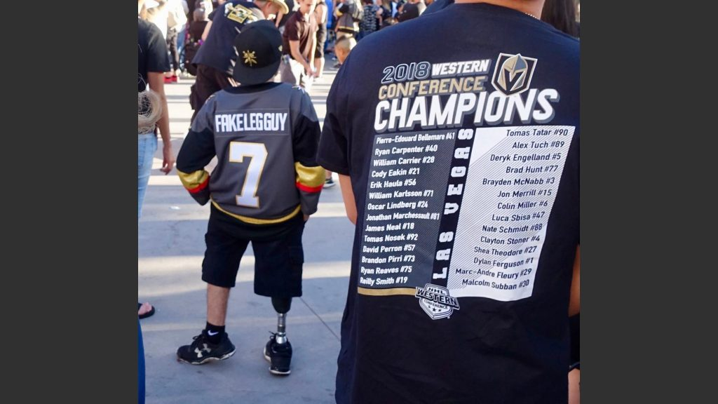 GOLDEN KNIGHTS FANS COME IN ALL SIZE, SHAPES AND INSPIRATION. Photo: Norm Clarke