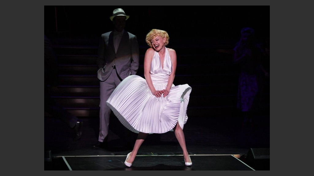 """RUBY LEWIS SHINES BRIGHTLY WHILE RECREATING THE ICONIC AIR-VENT MOMENT FROM """"THE SEVEN YEAR ITCH"""" (1955)  Photo: Denise Truscello"""