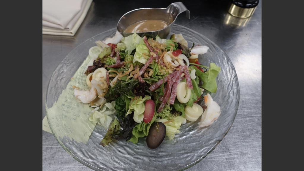 The Spazz Salad, one of the many holdovers from N9NE Steakhouse. It was formerly known at the Garbage Salad.