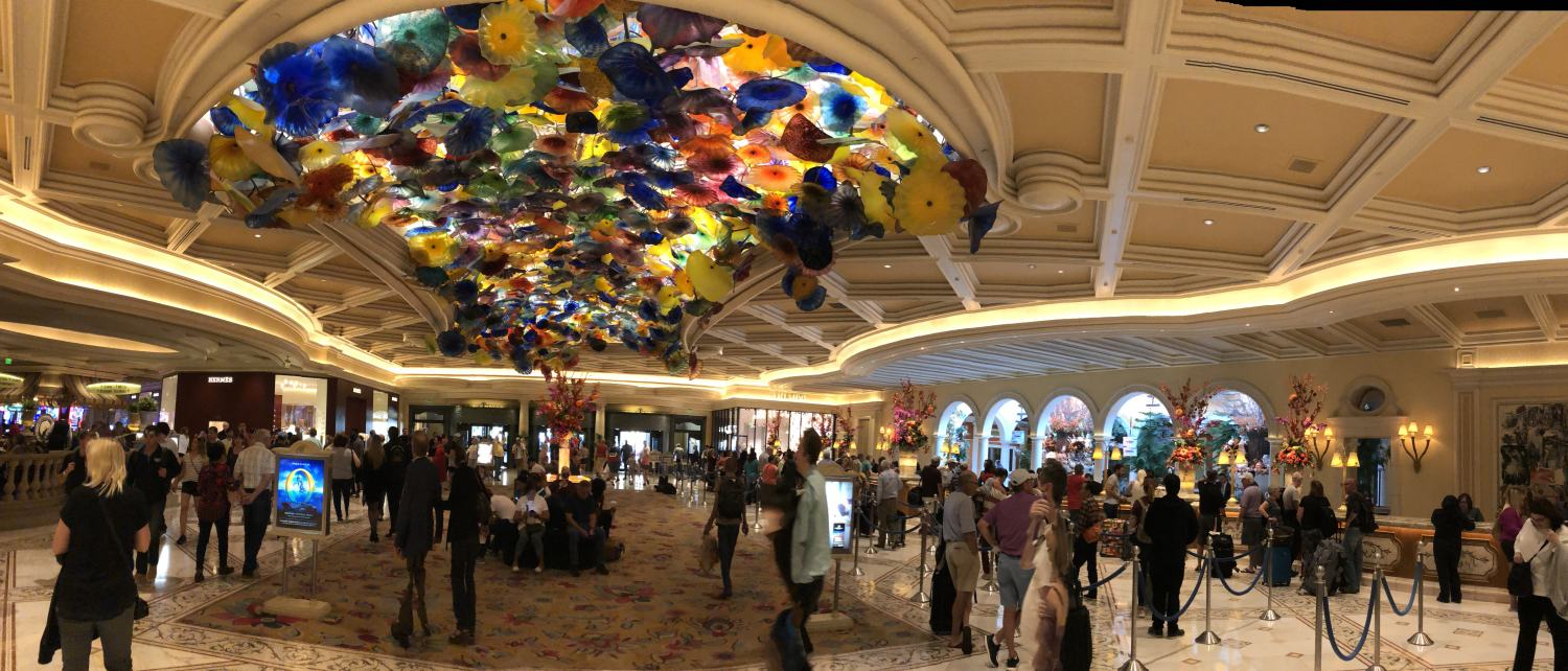 Dale Chihuly's floral glass sculpture on the ceiling of Bellagio's lobby has been inspiring millions for 20 years.