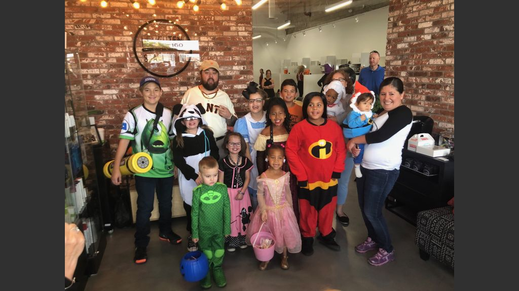 """Austin """"Chumlee"""" Russell of History Channel's """"Pawn Stars"""" at Level Ten Salon (10345 S. Eastern Ave.) on Saturday for the Children's Heart Foundation Halloween event. Courtesy photo"""