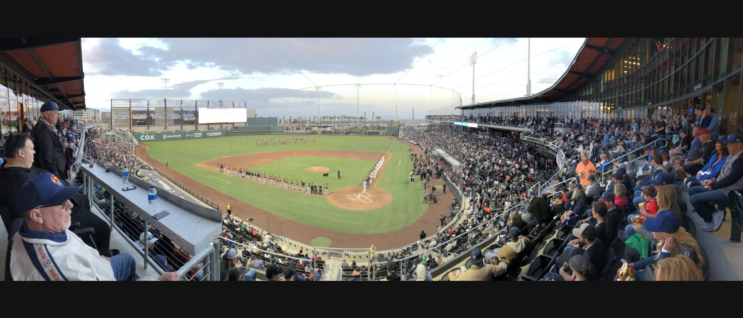 A sold-out crowd of 11,000-plus for the opening of Las Vegas Ballpark, home of the Class AAA Las Vegas Aviators.  Photo: Norm Clarke