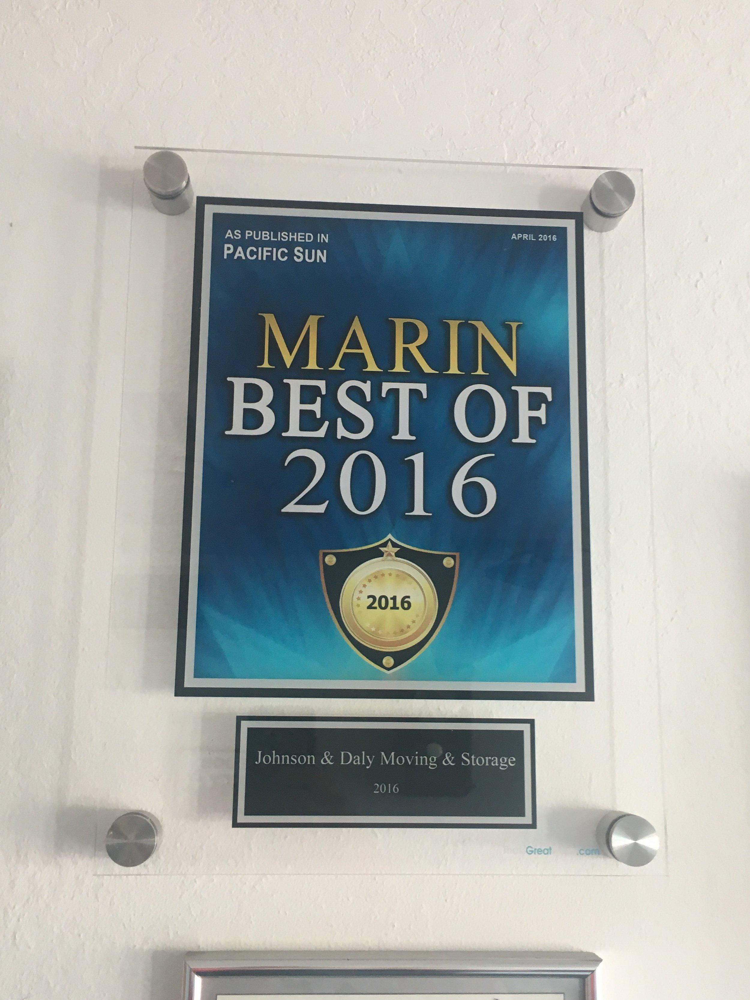 best of marin 2016