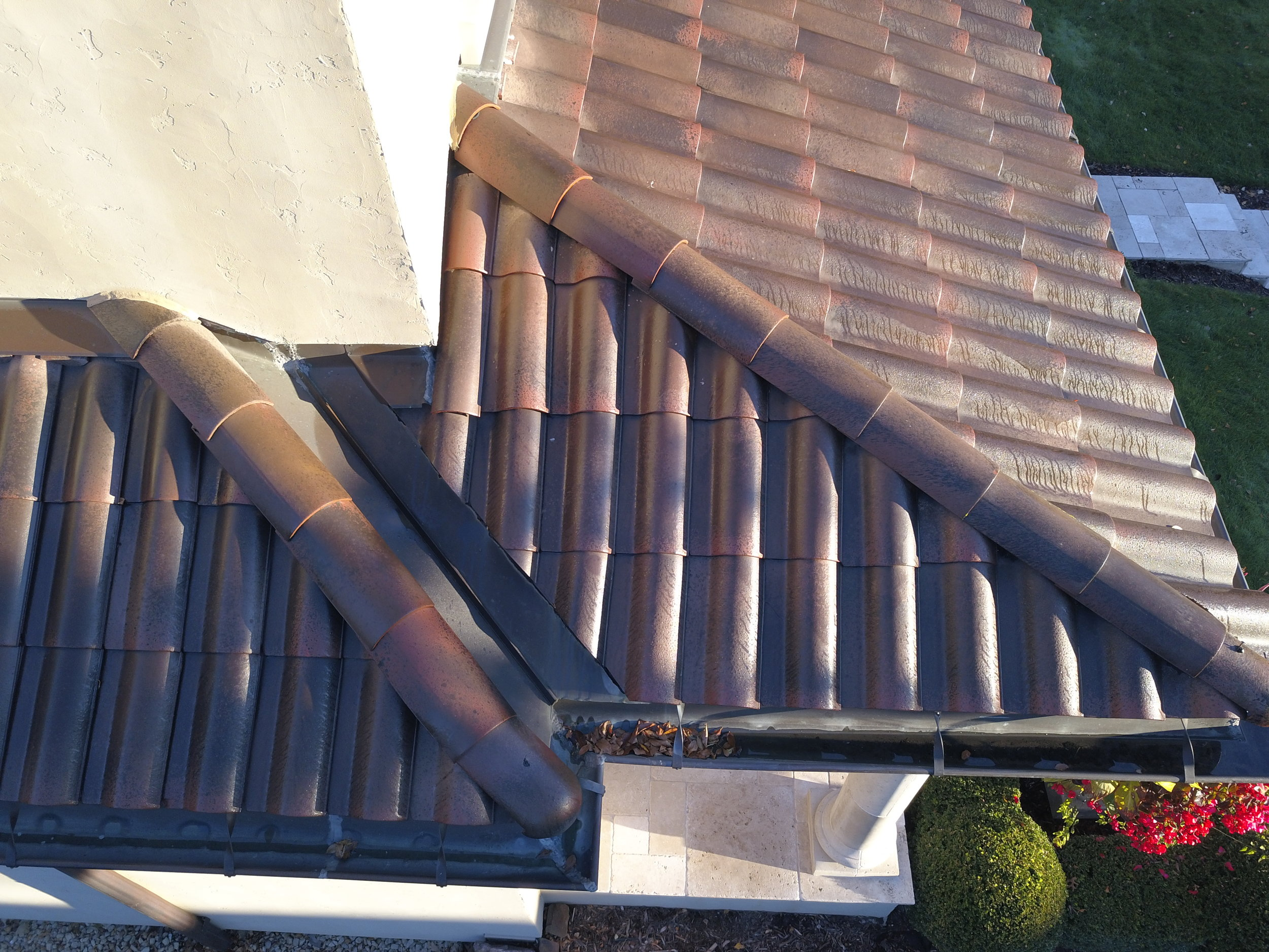 Residential roof inspection of clay tiles