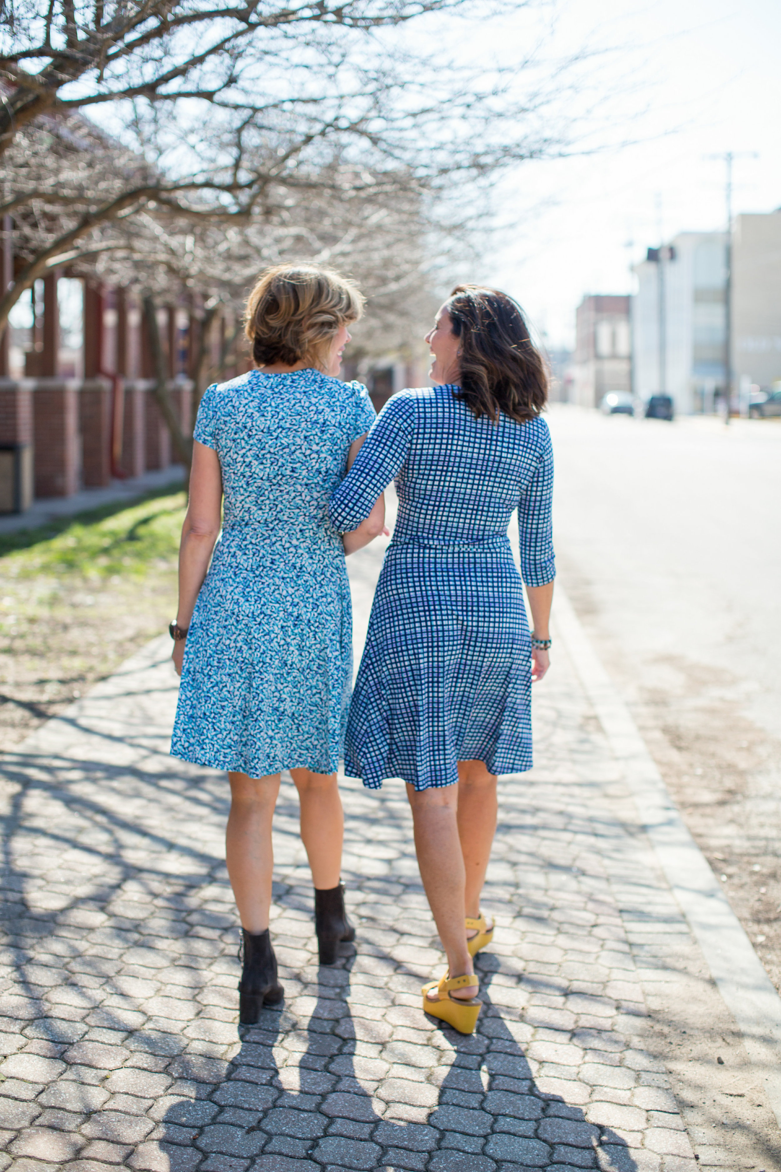 Wrinkle Free Wrap Dresses