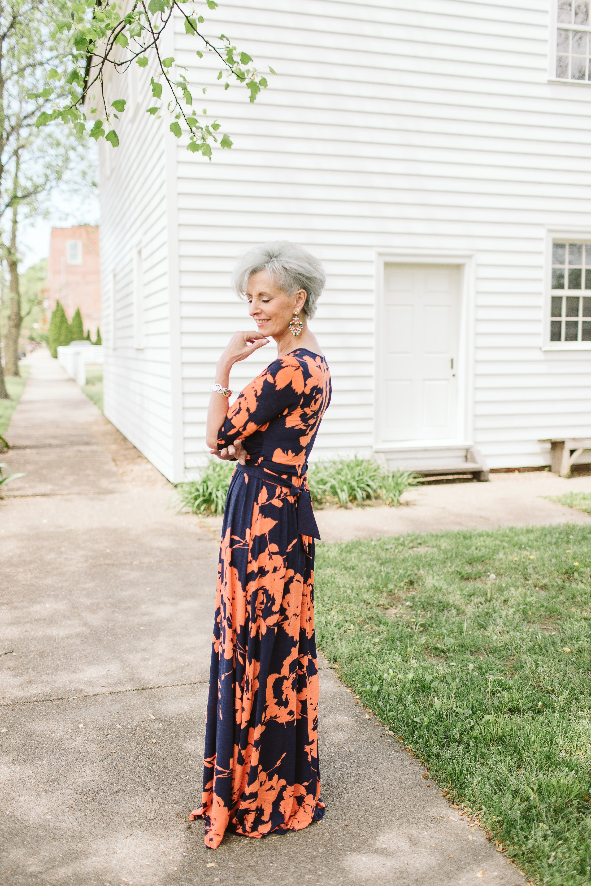 Floral Wrap Maxi.  $49. Available at Simple Extravagance Boutique.