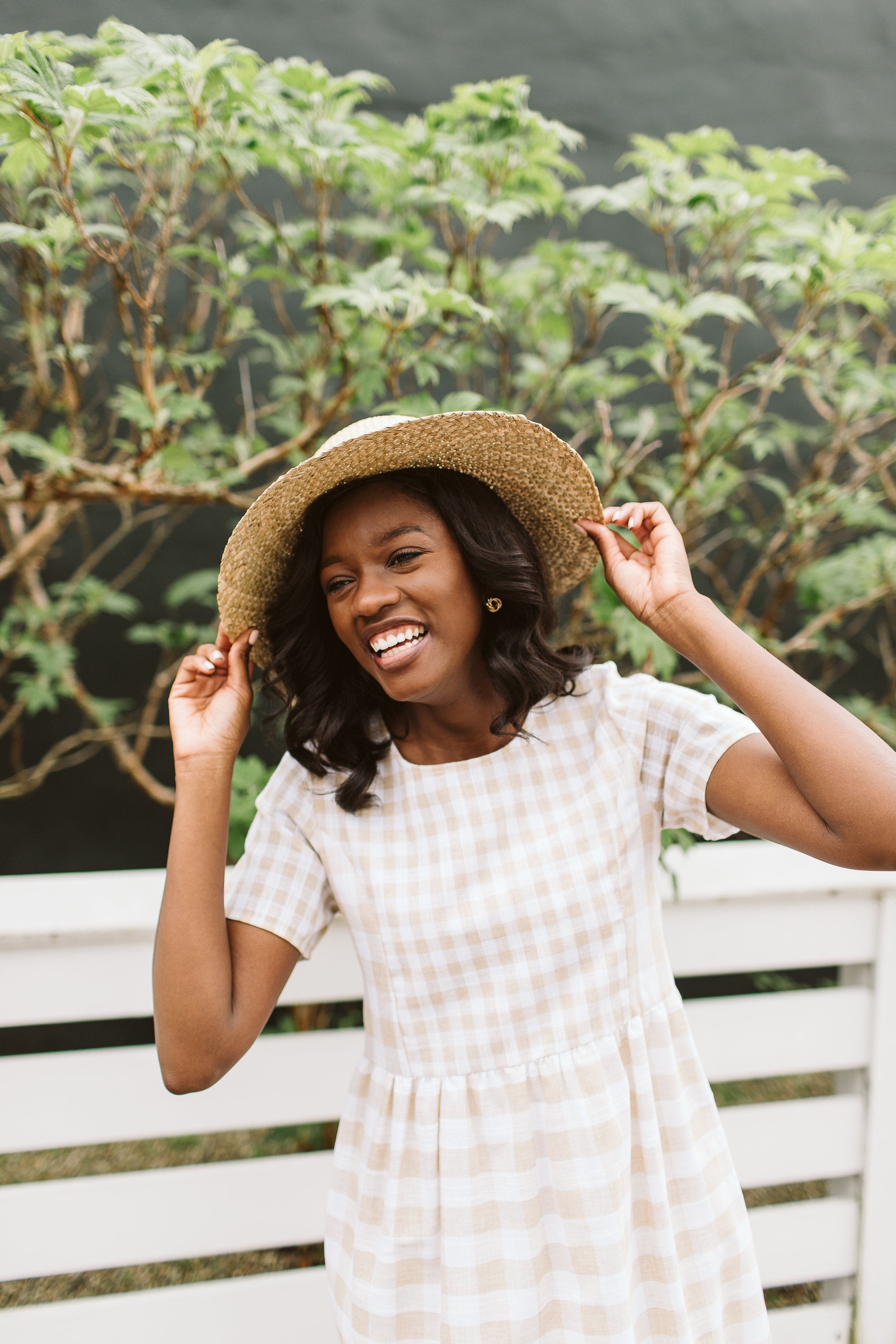 GINGHAM - Soft, sweet, and easy to dress up or down. For a laid back farmers' market day, add a straw hat and strappy sandals. For a night out? Add bold accessories like a statement lip and daring piece of jewelry.Left: Gingham Dress, Simple Extravagance, $48.