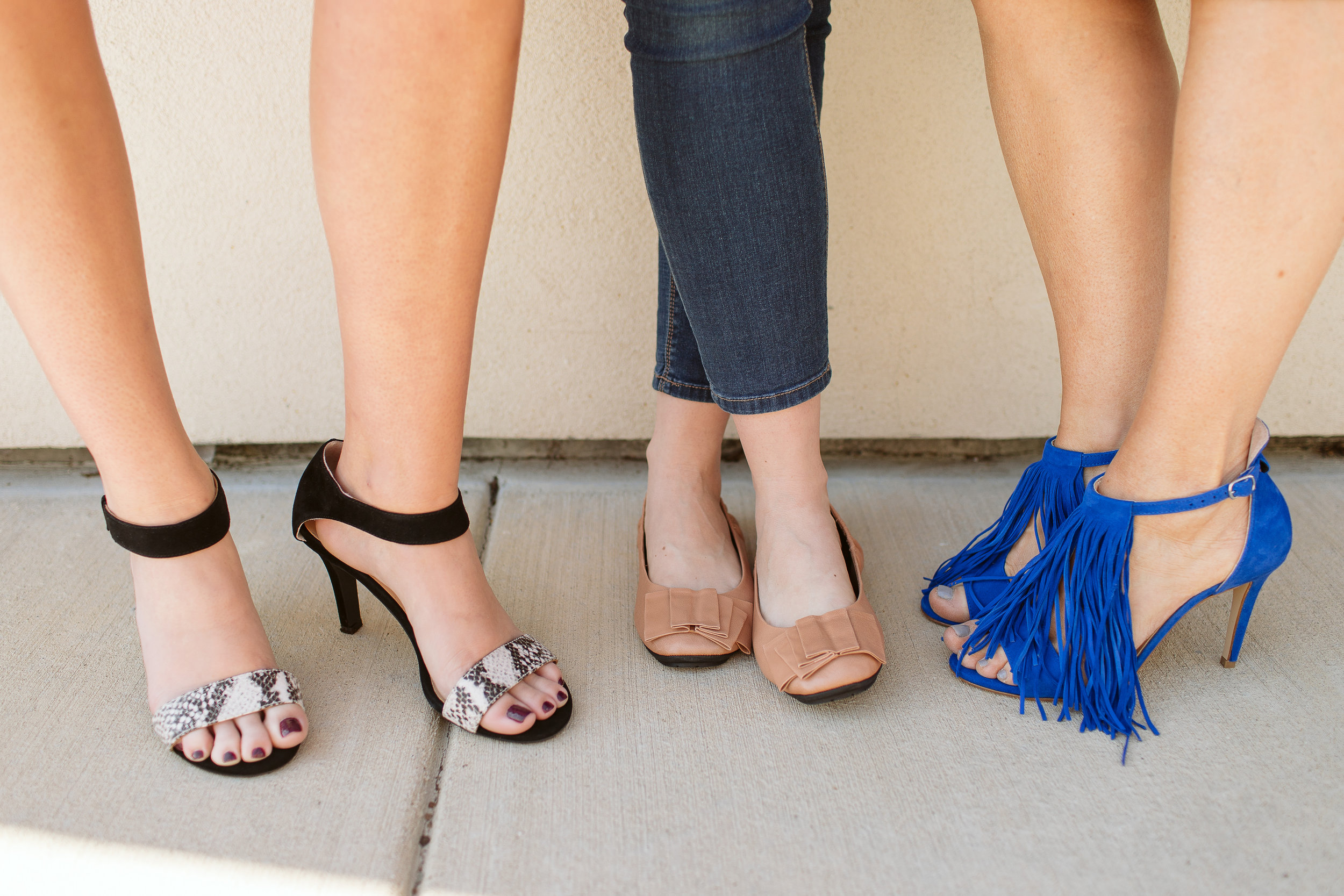 (L to R)  Donna Sandal ,  Lilyana Flat  , and   Suede Sandal   - Xtended Soles.