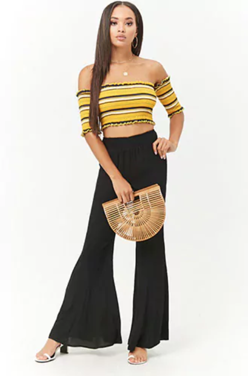 Smocked Flare Pant