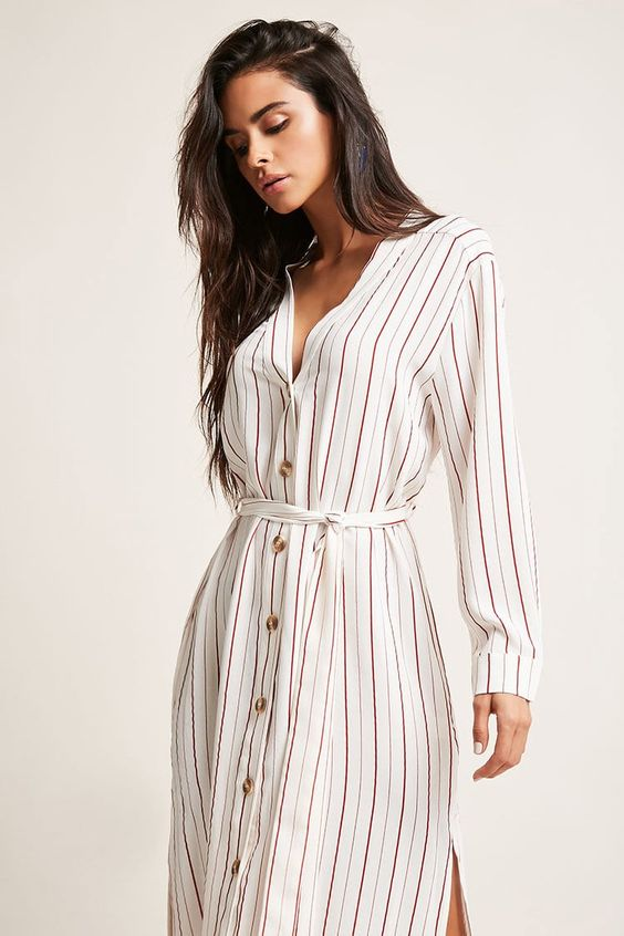 Striped Duster Jacket