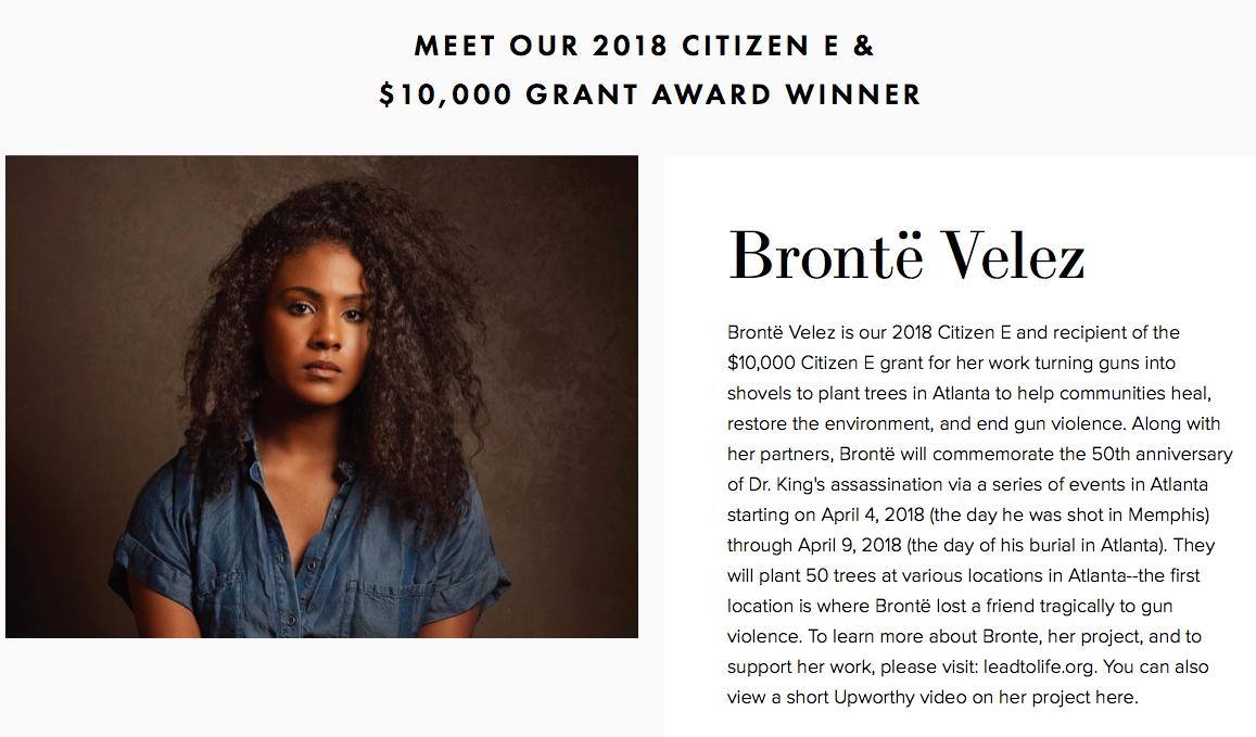 Citizen E Grant Award Winner Announcement - April 2018
