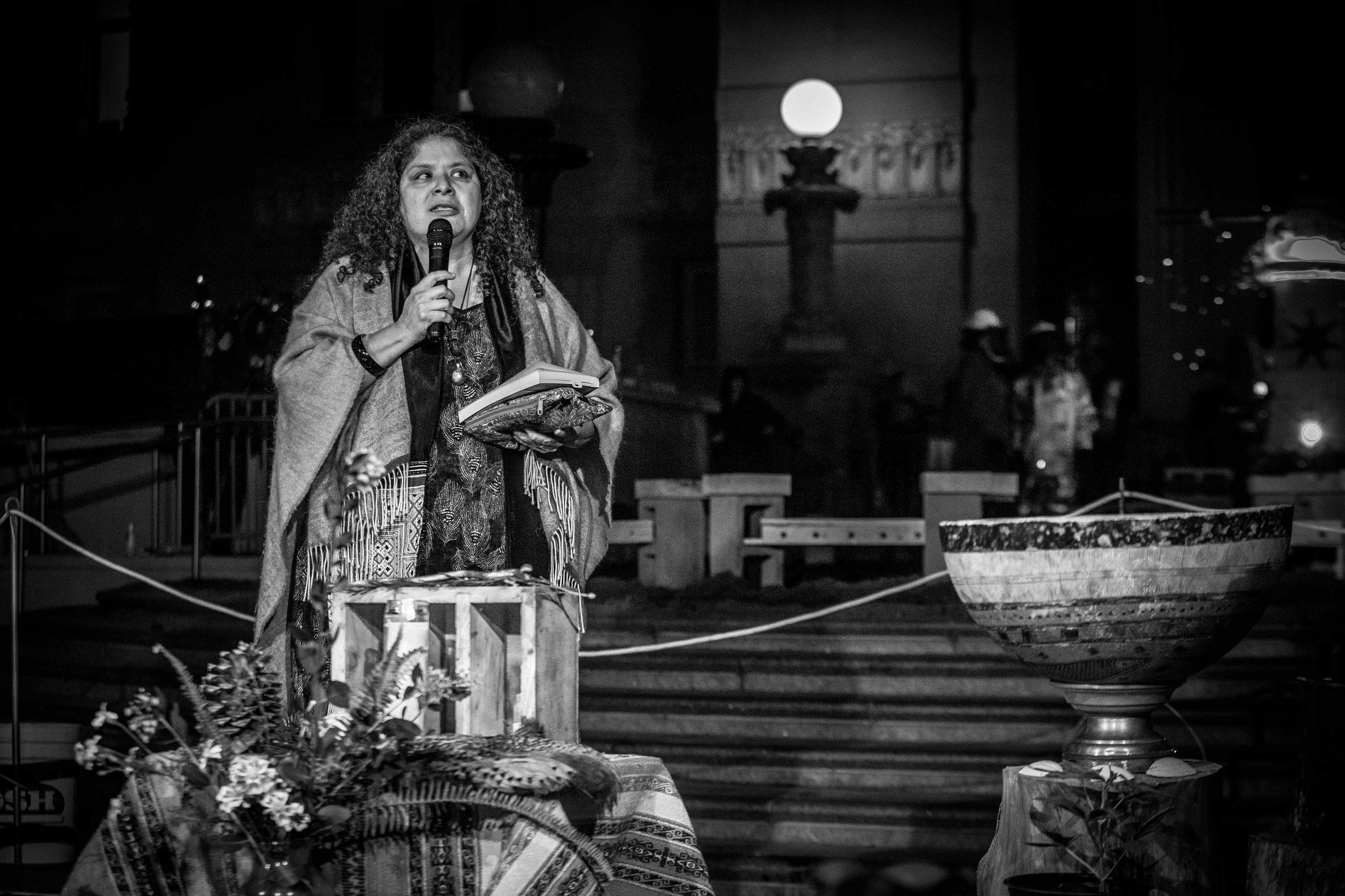 Brenda Salgado offers opening blessing