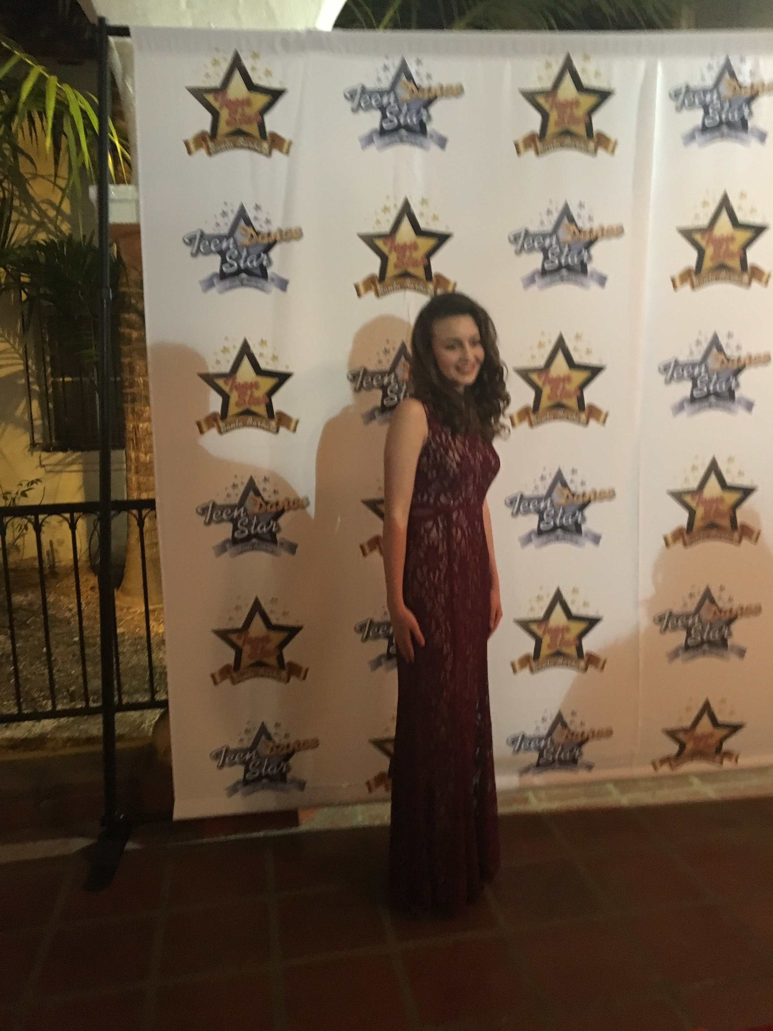 DA student and Teen Star Finalist Hunter Hawkins on the red carpet.jpg