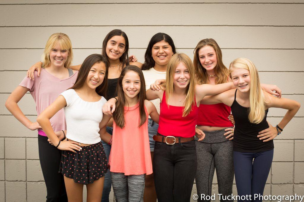 IMPACT  Back Row: Sophia Dirksen, Mia Andrade, Rina Glasman (Captain),Ally Murphy Front Row: Skylar Yonemura, Tara Pinsker, Frances Rich, Madeira Thomas