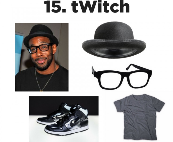 SYTYC DANCE - So You Think You Can Dance All-Star tWitch is our dance hero! His moves on the floor, in films, and on the TV Screen always inspire.  A simple bowler hat and his signature glasses complete the look!