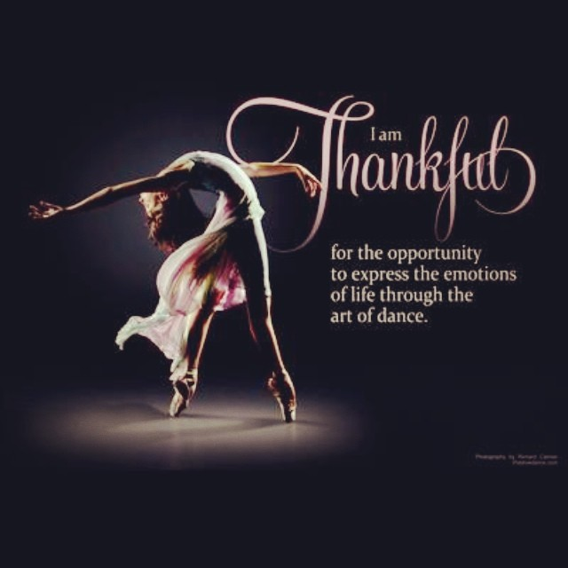 Blog - Find out why SB Dance Arts faculty and our favorite celebrity choreographers and friends are thankful for dance.