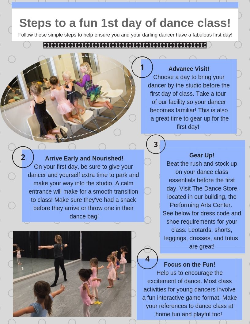 Steps to a fun first day of dance class!
