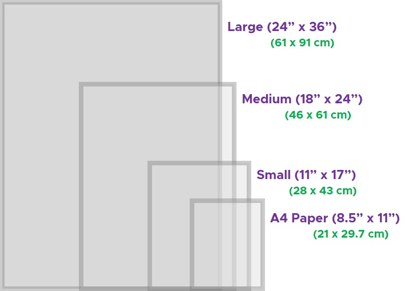 Standard Nudge Art Sizes