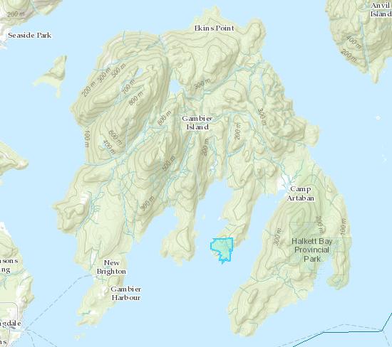 Location of Daisy Bay Estates Co-operative