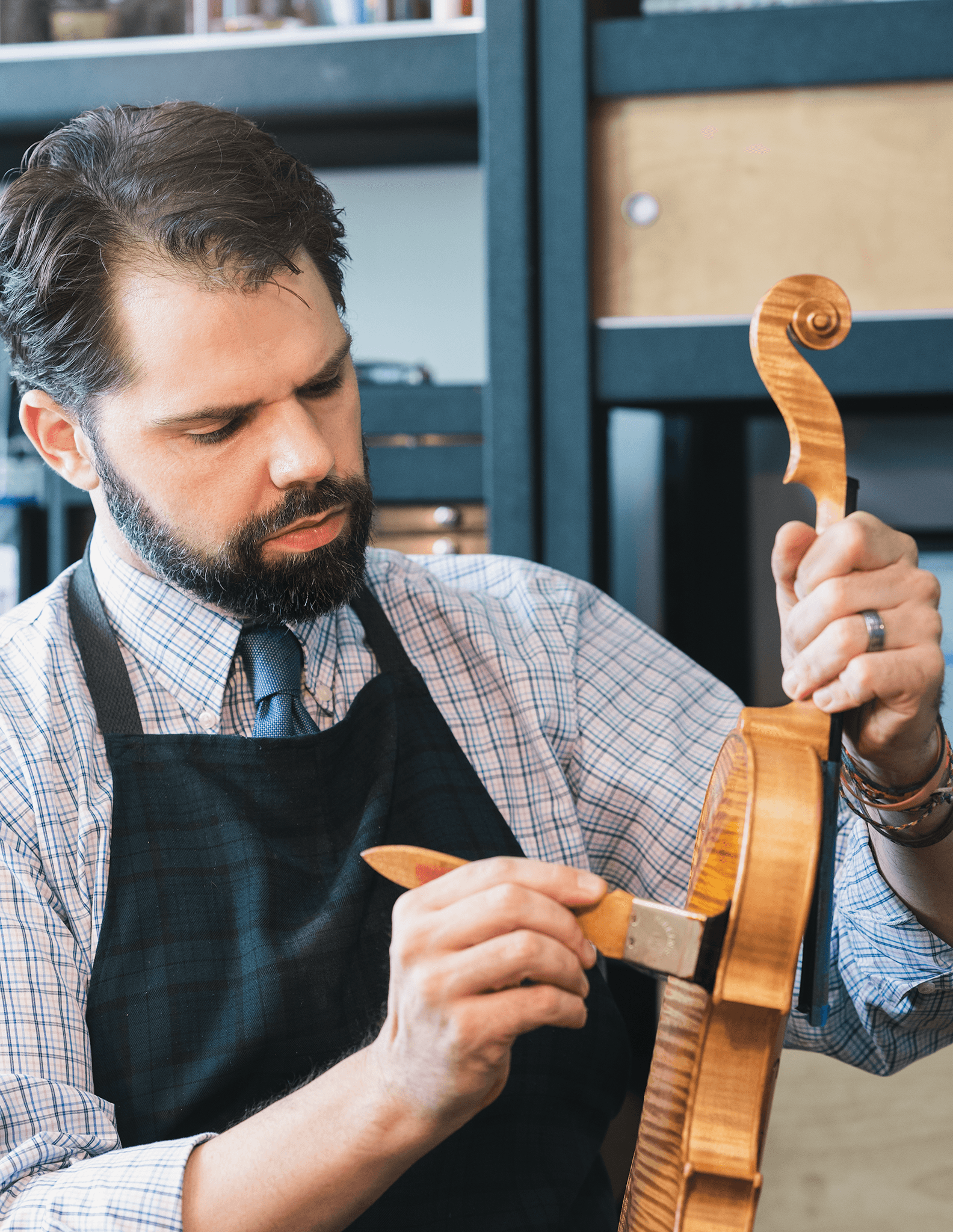 If I could only give one piece of advice to players that would protect their investment and lower repair bills, it would be to wipe down their instrument after playing, with a clean, dry cloth.  ~Ryan McLaughlin, luthier