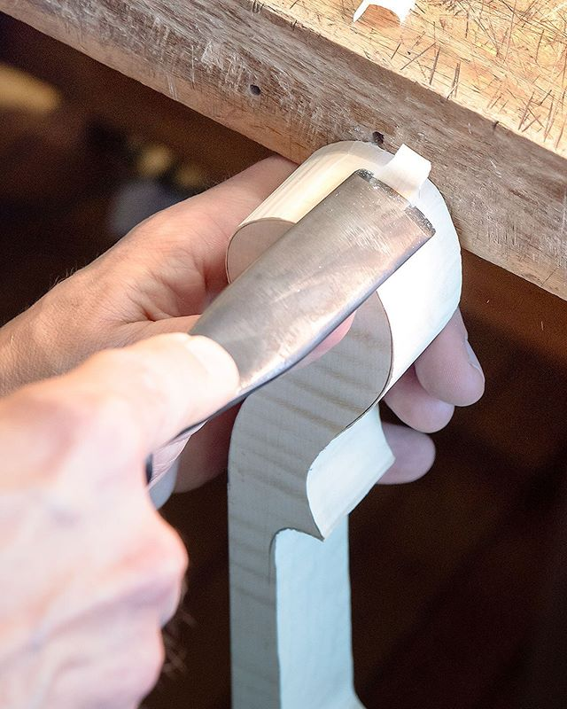Ryan doesn't know but I'm collecting data to see if Ryan drinking more coffee would mean finishing the violin faster • • • • • • #violinmaking #woodworking #violinshop #luthier #violin