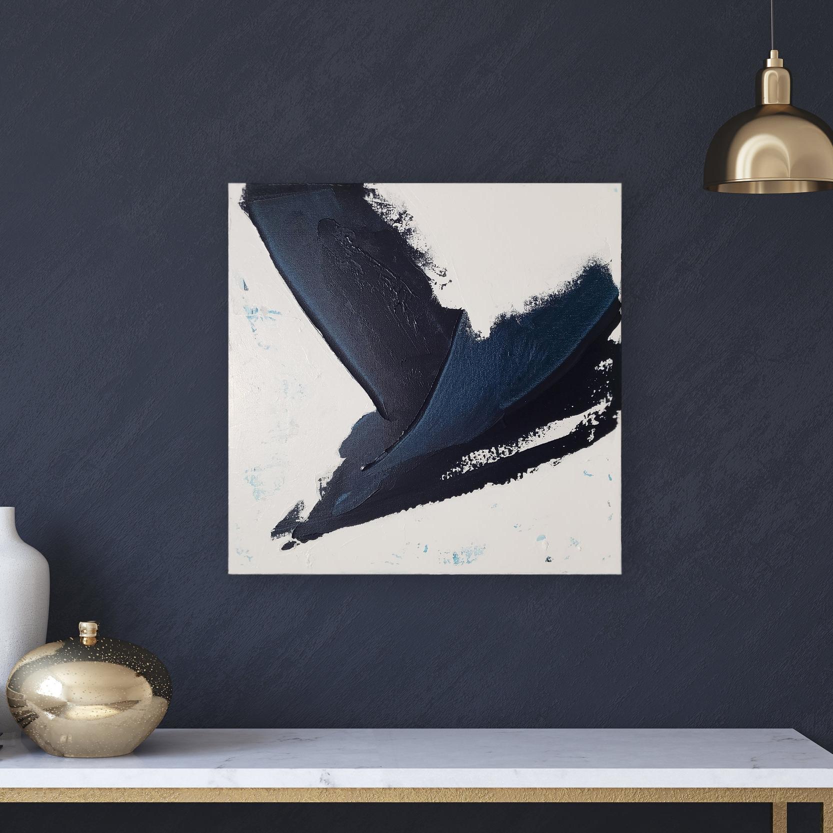 "Gust   $200. 20x20"". Acrylic on canvas. 2018."