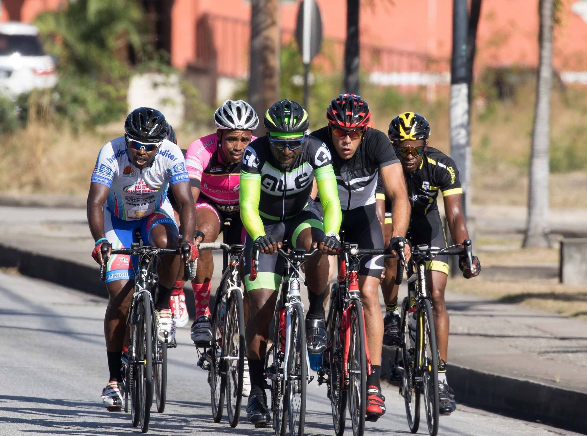 Cyclists battled gruelling wind and heat conditions. Photo credit:  Terrence.G.Lowe
