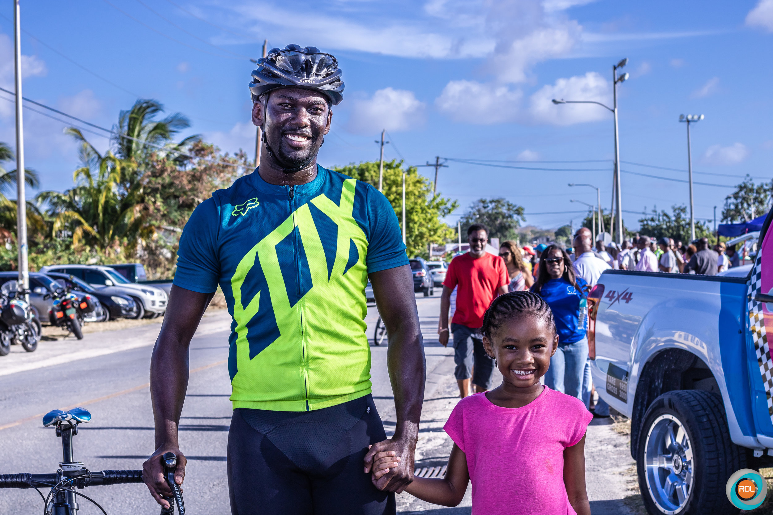 Category 3 cyclist Ron Graves finished fifth and is pictured here with his daughter.