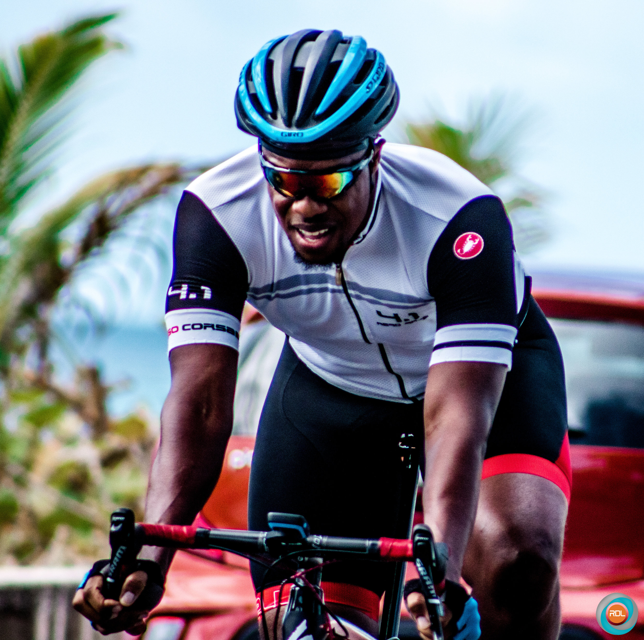 Rene Lashley looked strong. He finished second in the Masters 35-49 category behind first place winner Junior Proverbs.