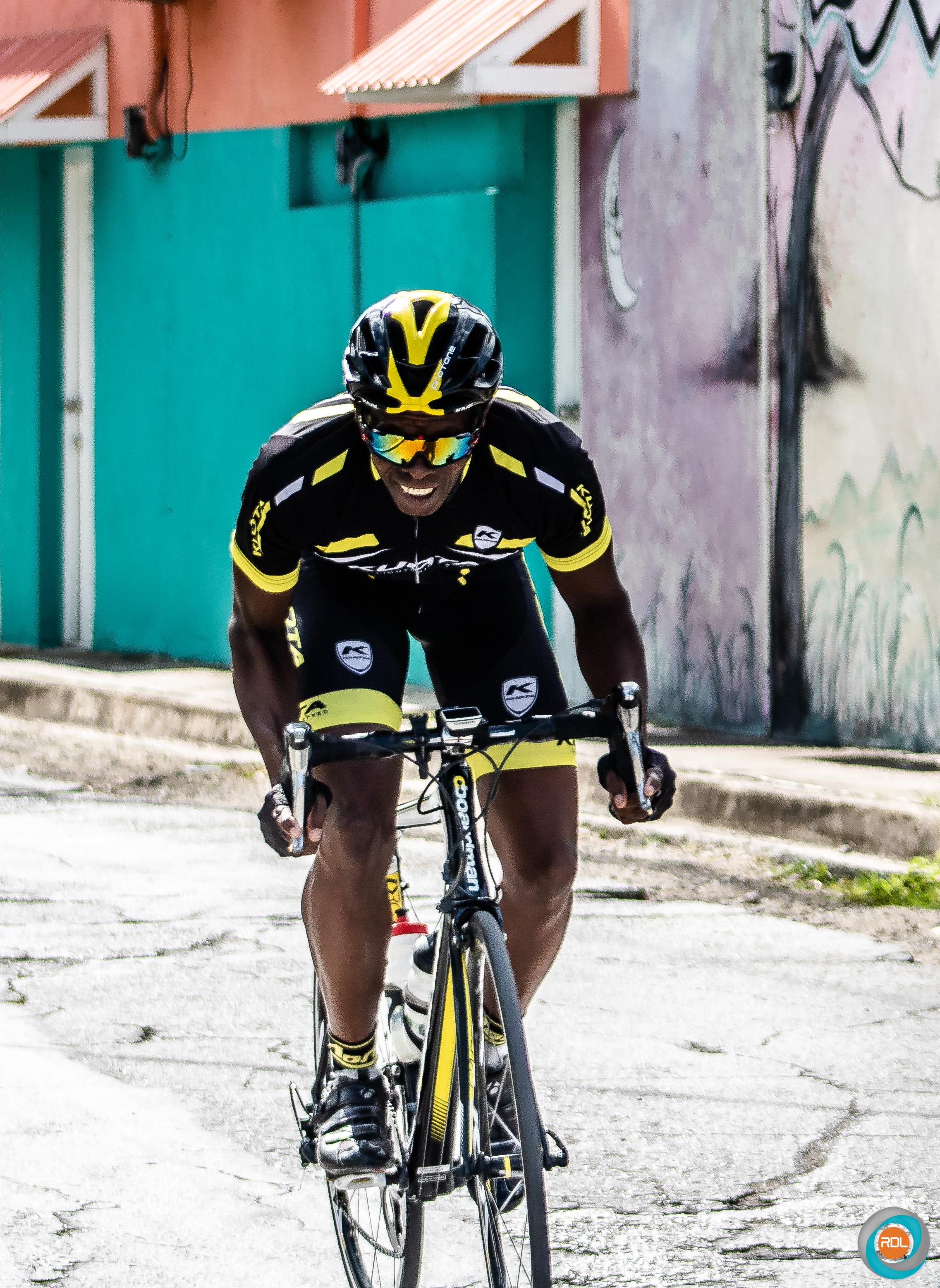 Independent cyclist Alan Codogan finished second in the Masters 50 and over category behind first place winner Sedwin Jones.