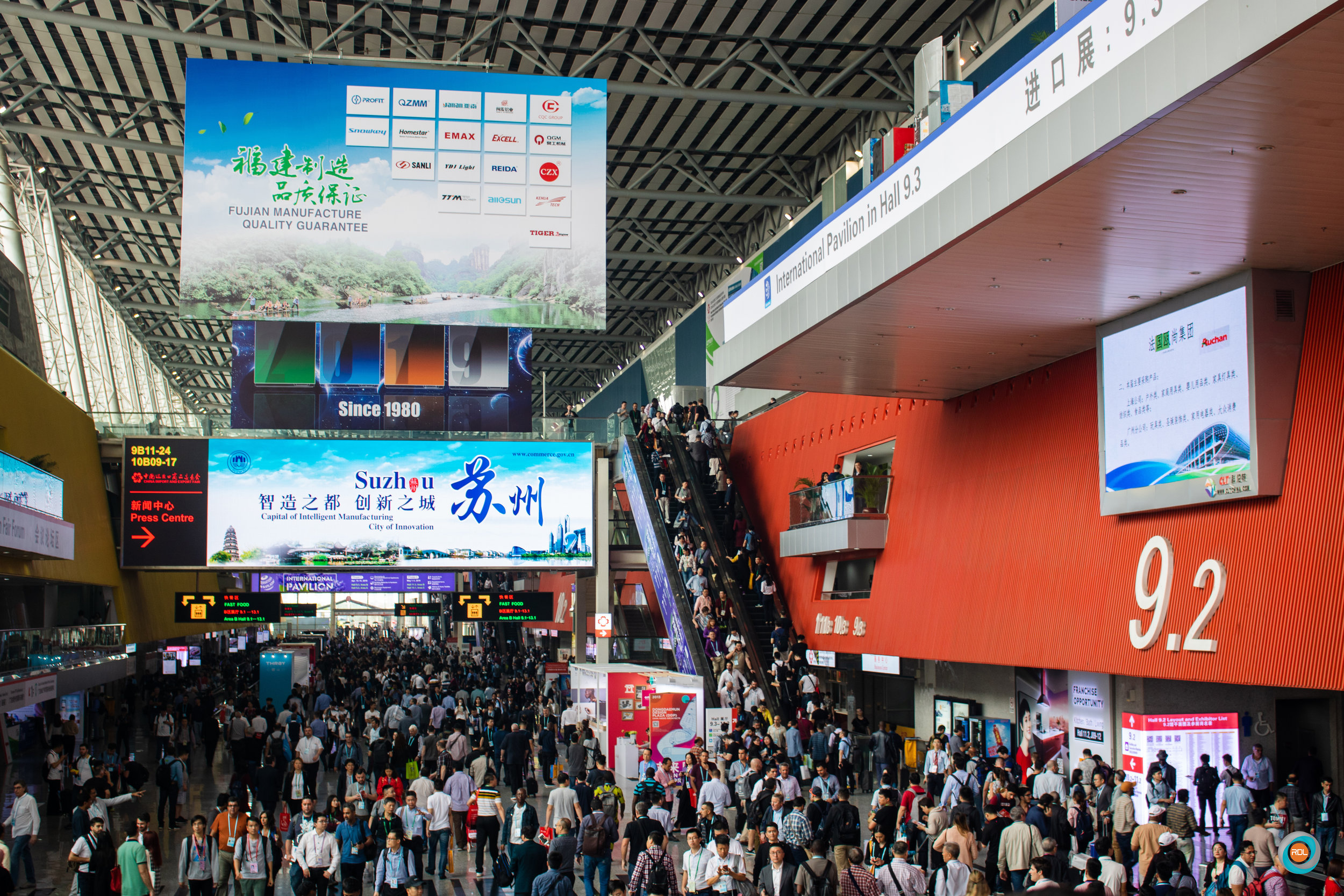 A glimpse of the bustling nature of the Canton Fair. The event attracts over 800,000 buyers from across the globe.