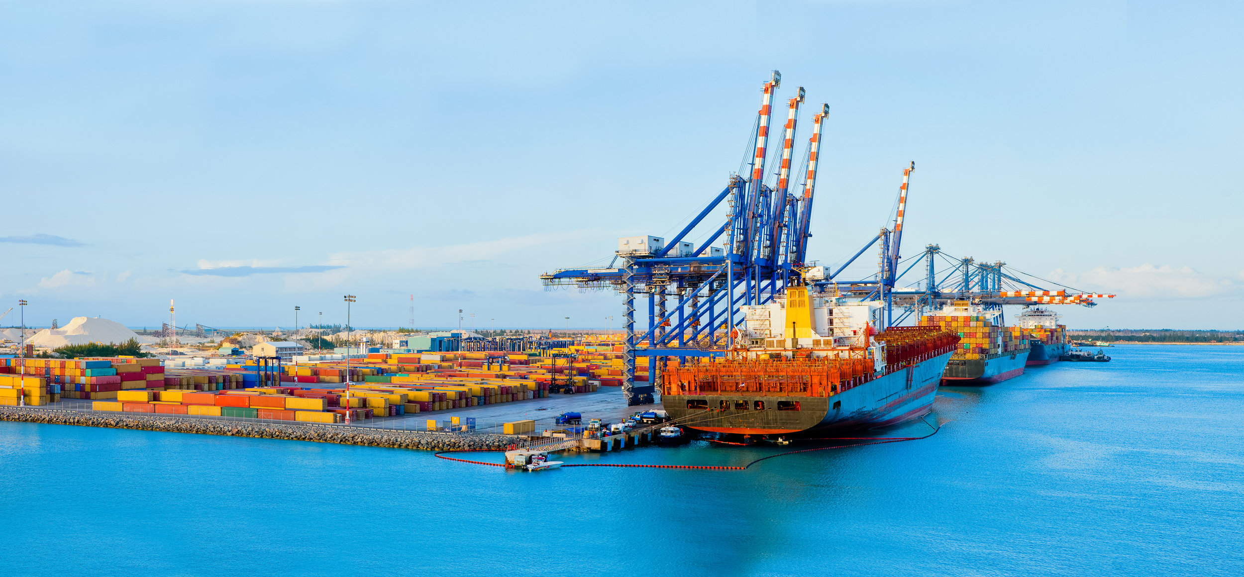 A container port in the Caribbean.