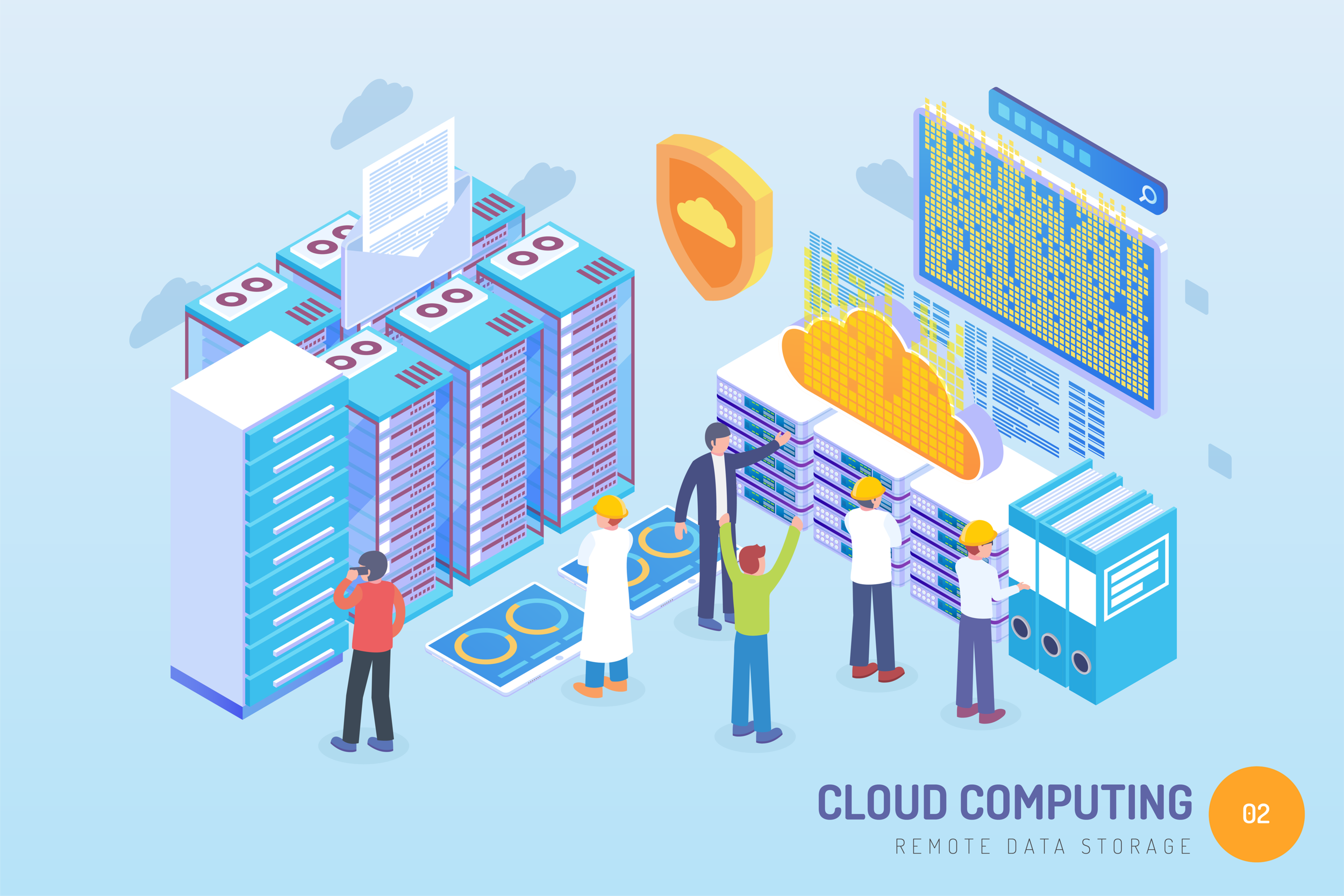 Cloud storage involves remote servers that store, manage and process big data.