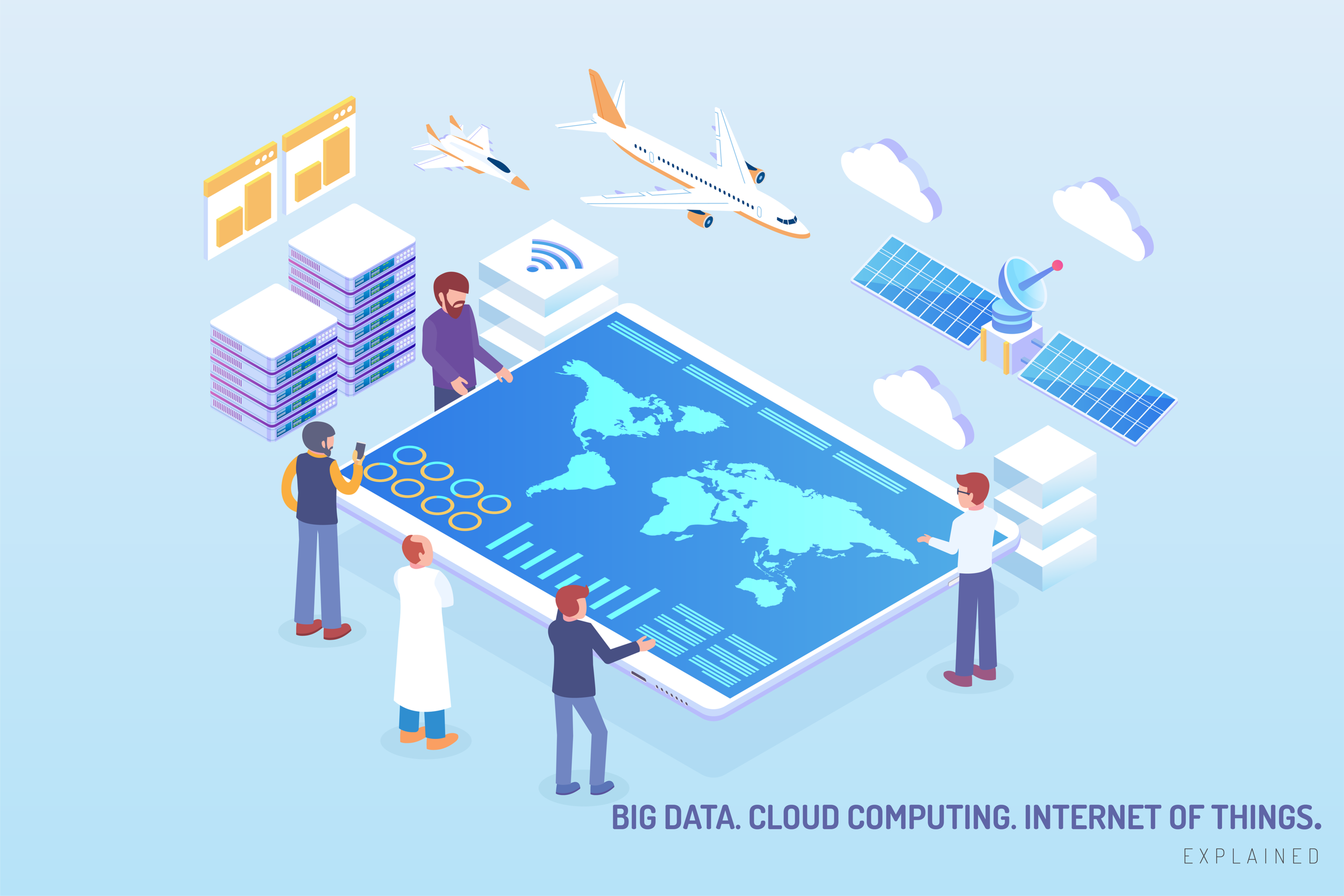Big data, cloud computing and internet of things—explained.