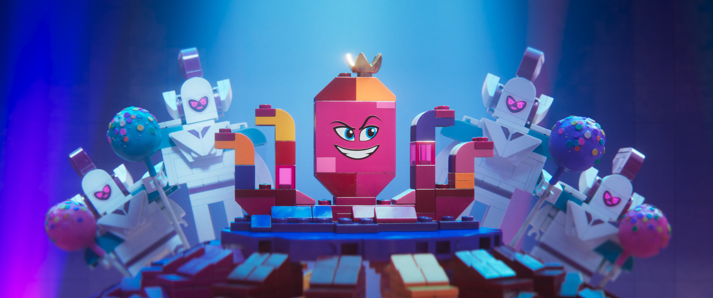 Queen Watevra Wa'Nabi of  The Lego Movie 2  is an all-time great animated character.