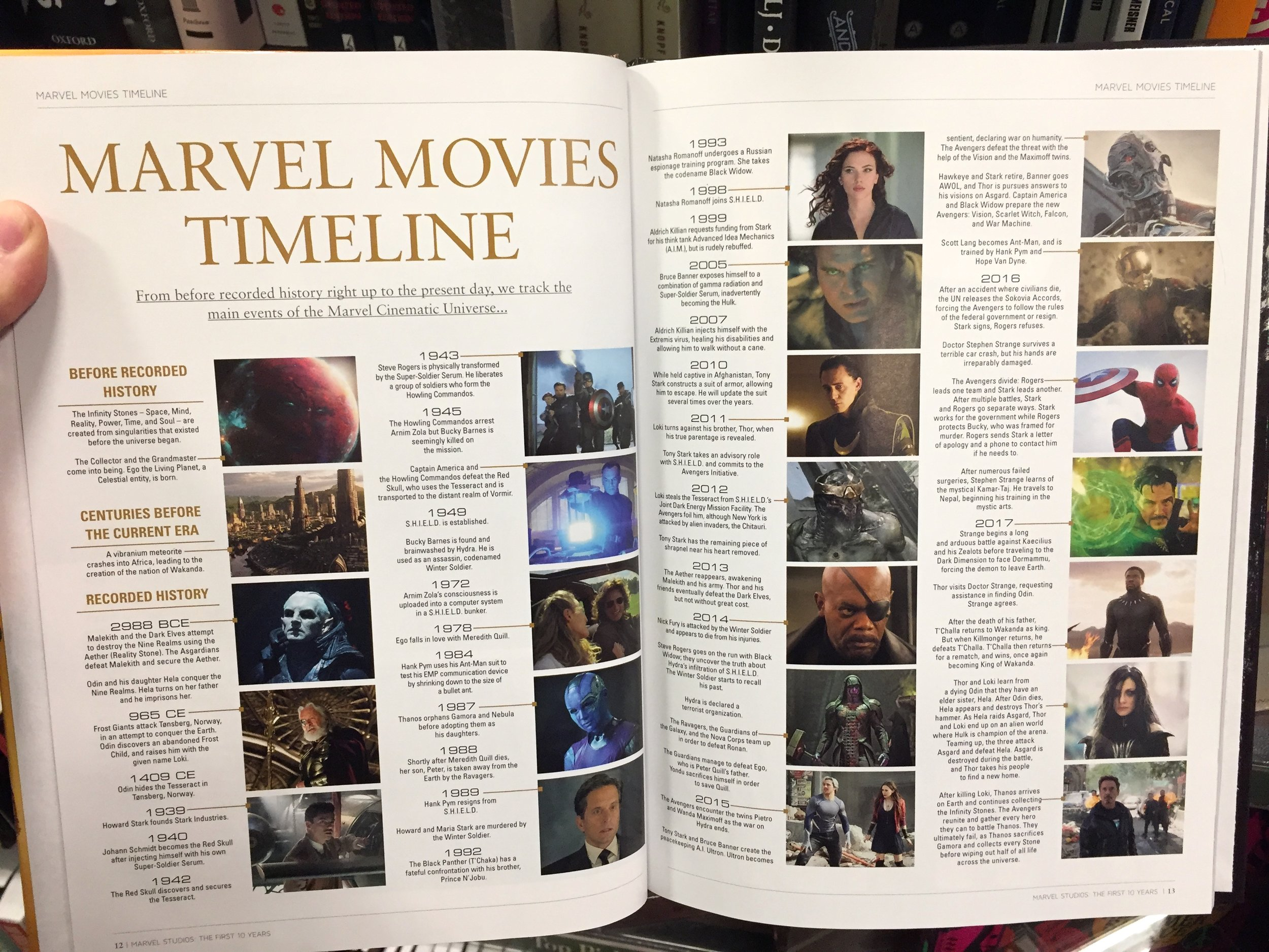 In the book  Marvel Studios: The First Ten Years,  Marvel has laid out an official timeline for the MCU.