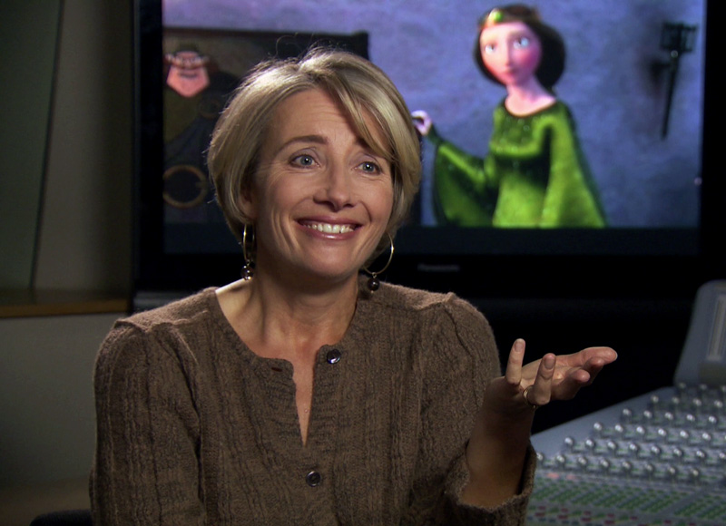 Emma Thompson voiced Queen Elinor in Pixar's  Brave .