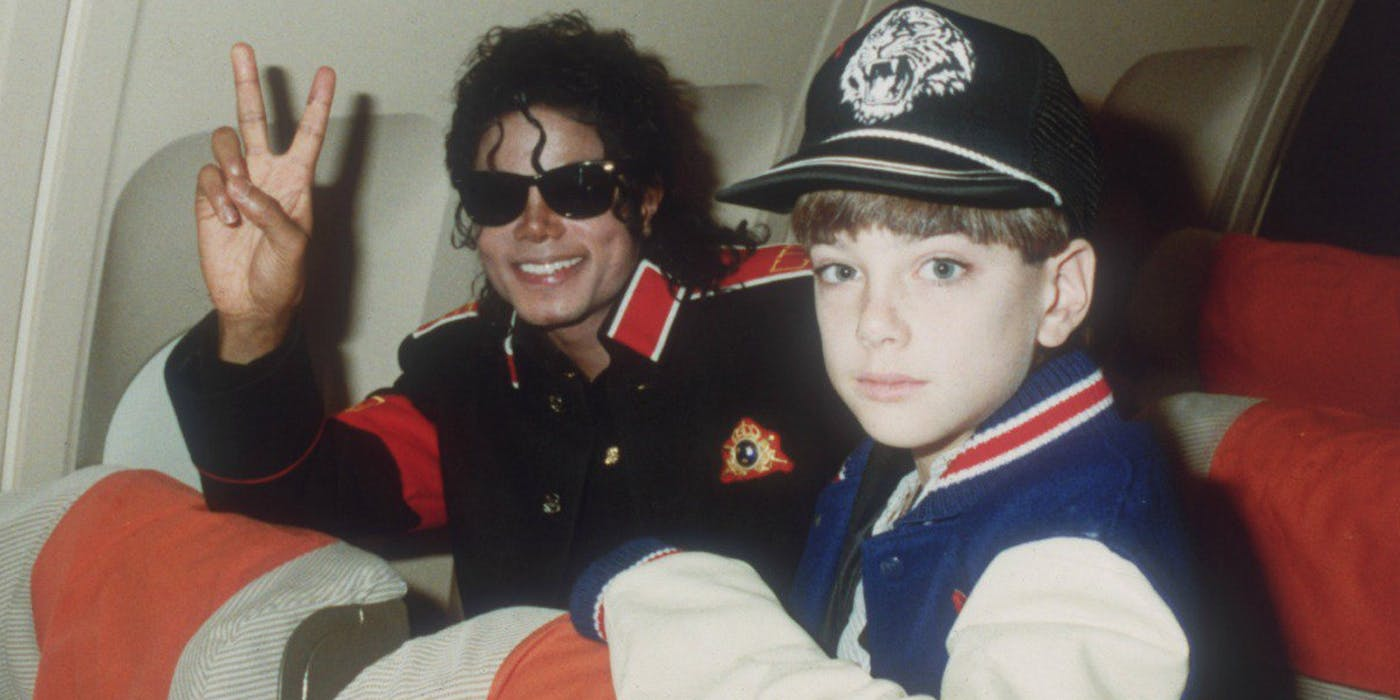 Michael Jackson is pictured with 10-year-old Jimmy Safechuck, who, as an adult, alleges the singer sexually abused him as a child. Those allegations, along with others made by Wade Robson, are the subject of a new documentary on HBO,  Leaving Neverland.