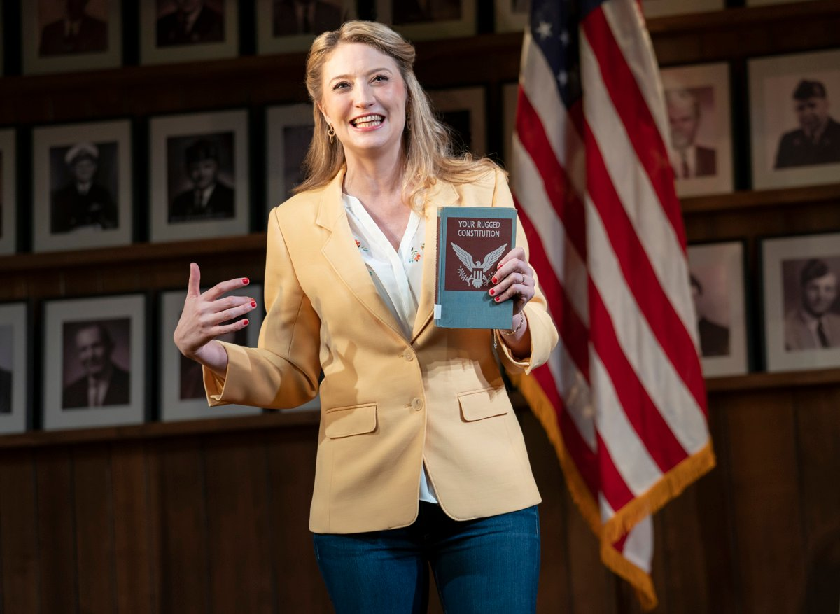 Heidi Schreck wrote and stars in  What the Constitution Means to Me  on Broadway. Courtesy of Joan Marcus.