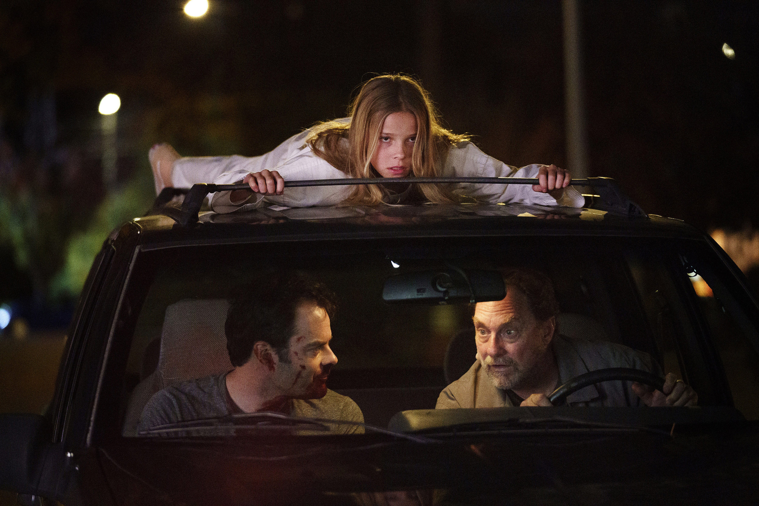 (From left) Bill Hader, Jessie Giacomazzi and Stephen Root in (particularly memorable) episode of  Barry . Courtesy of Aaron Epstein/HBO.
