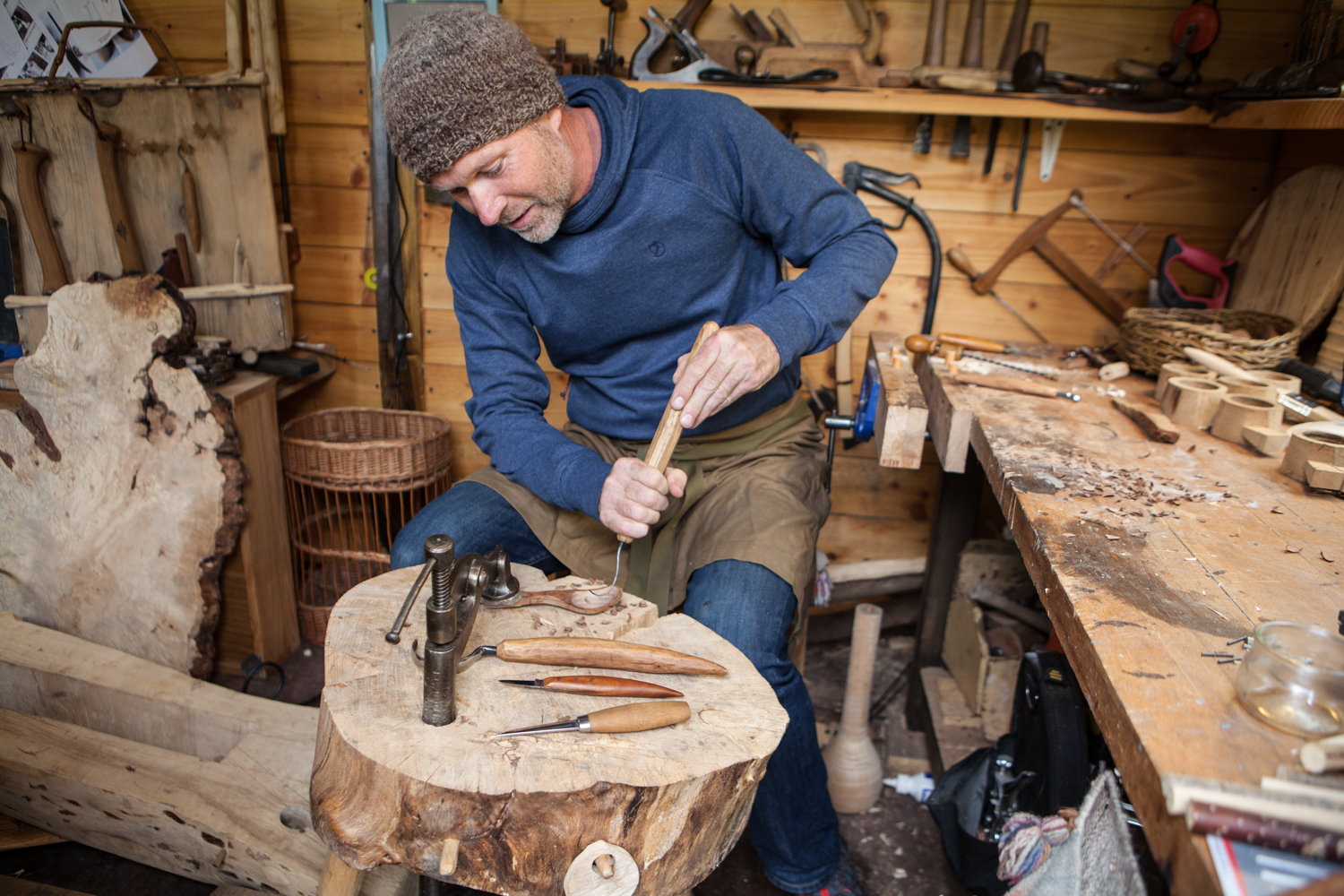 - Brought up in north Wales, David studied visual communication before working in a series of communication agencies as designer. Starting a family took him back to rural Wales where he was able to diversify into artisan food photography and making from wood. The landscape and natural beauty of North Wales is a constant inspiration and indeed all the wood he uses is native to and sourced in North Wales. Taking a green woodworking approach to making in wood allows David a simple process - the use of a few sharp tools only and the ability to make anywhere outdoors. David makes tableware for top restaurants, and sells one-off pieces online.