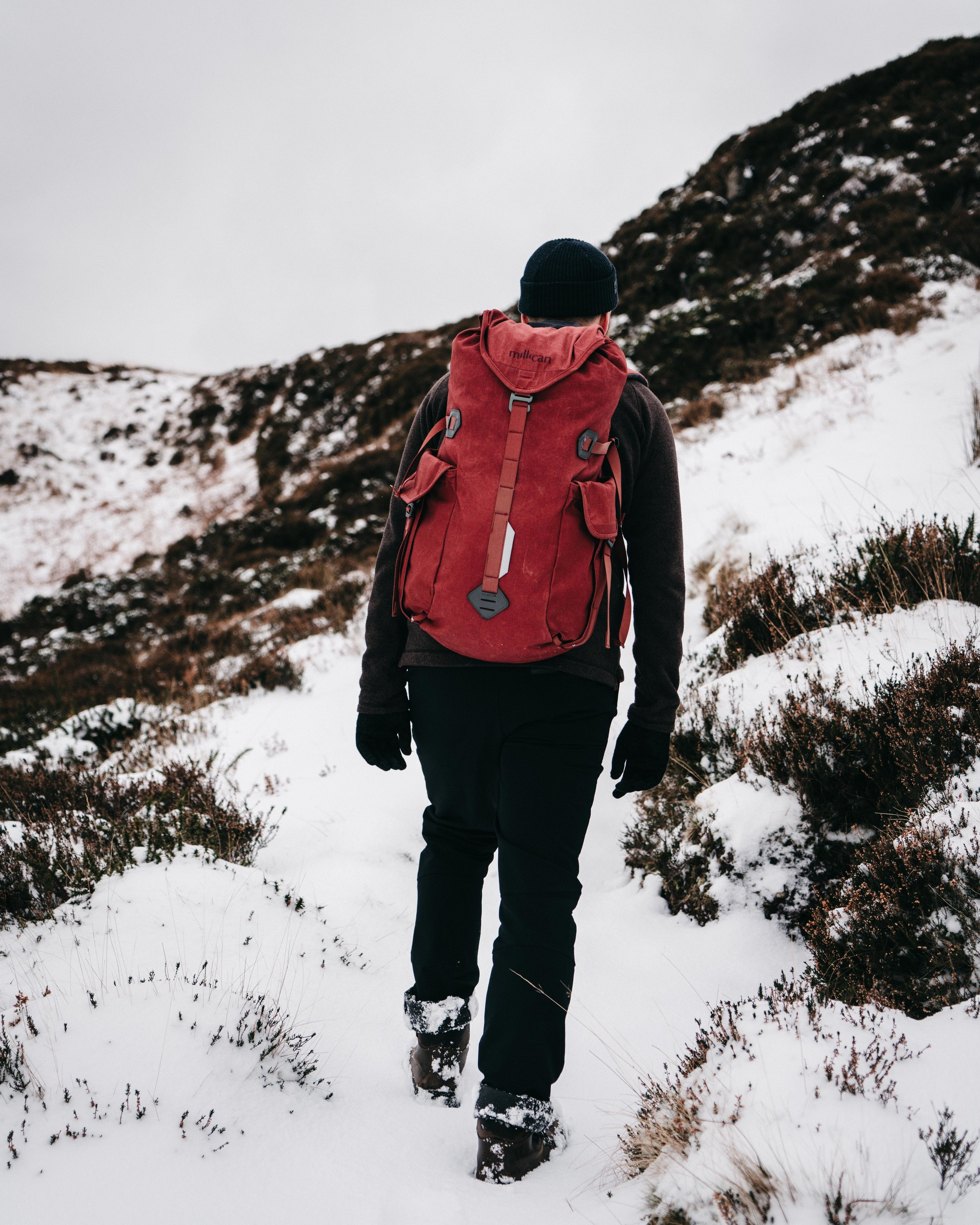 Hiking in the snow