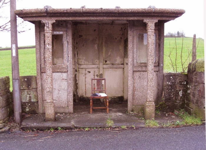 Bus stop chair at Slack Bottom, Heptonstall.